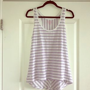 Lilly Pulitzer Lavender White Striped Tank Top